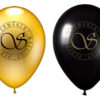 Golden and Black Balloon with logo (50PCS)
